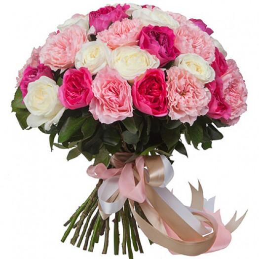 51 садовая роза ассорти «David Austin»
