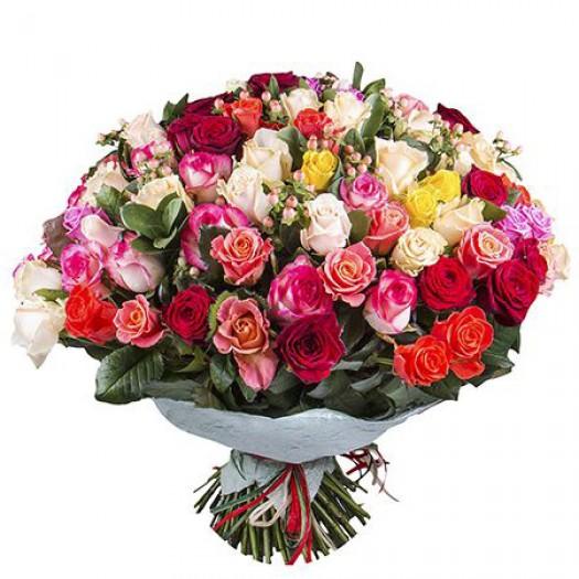 131 роза ассорти