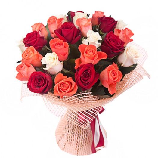 25 роз ассорти