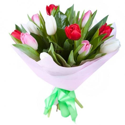 15 тюльпанов ассорти