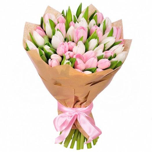 51 тюльпан «Нежное ассорти»