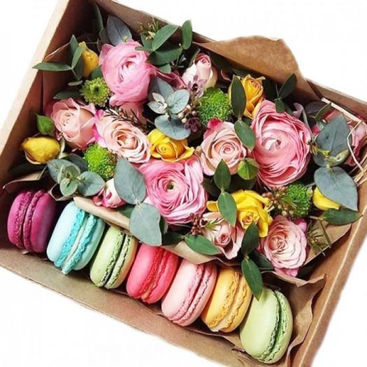 Ажурный десерт в коробке