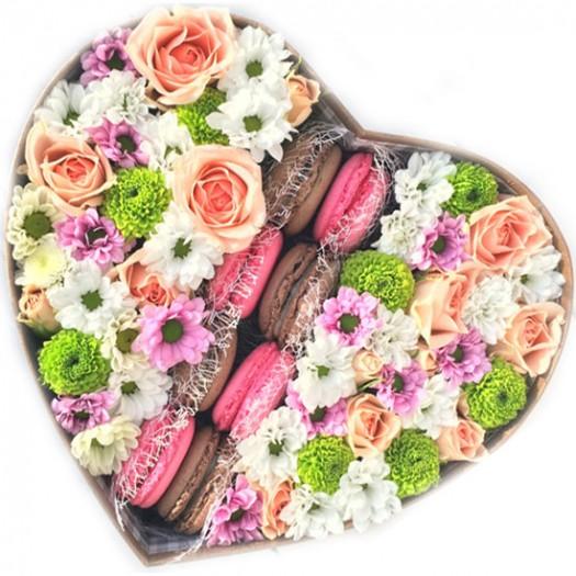Клубника с шоколадом в сердце