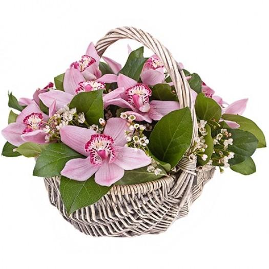 «Корзиночка с орхидеями»