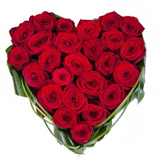 «Сердце 25 красных роз»