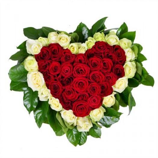 «Сердце 51 роза»