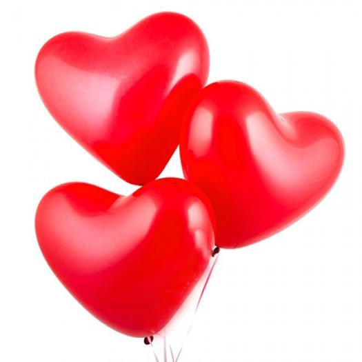 Шарики с гелием «Красное сердце»