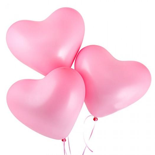 Шарики с гелием «Розовое сердце»