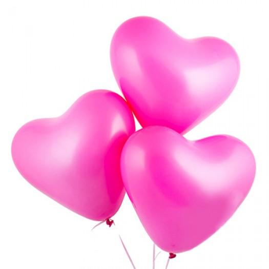 Шарики с гелием «Ярко-розовое сердце»