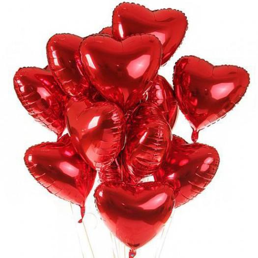 15 фольгированных шариков «Сердце»
